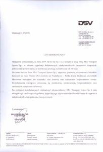 BBA Transport System Referencje