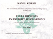 BBA Transport System Certificate