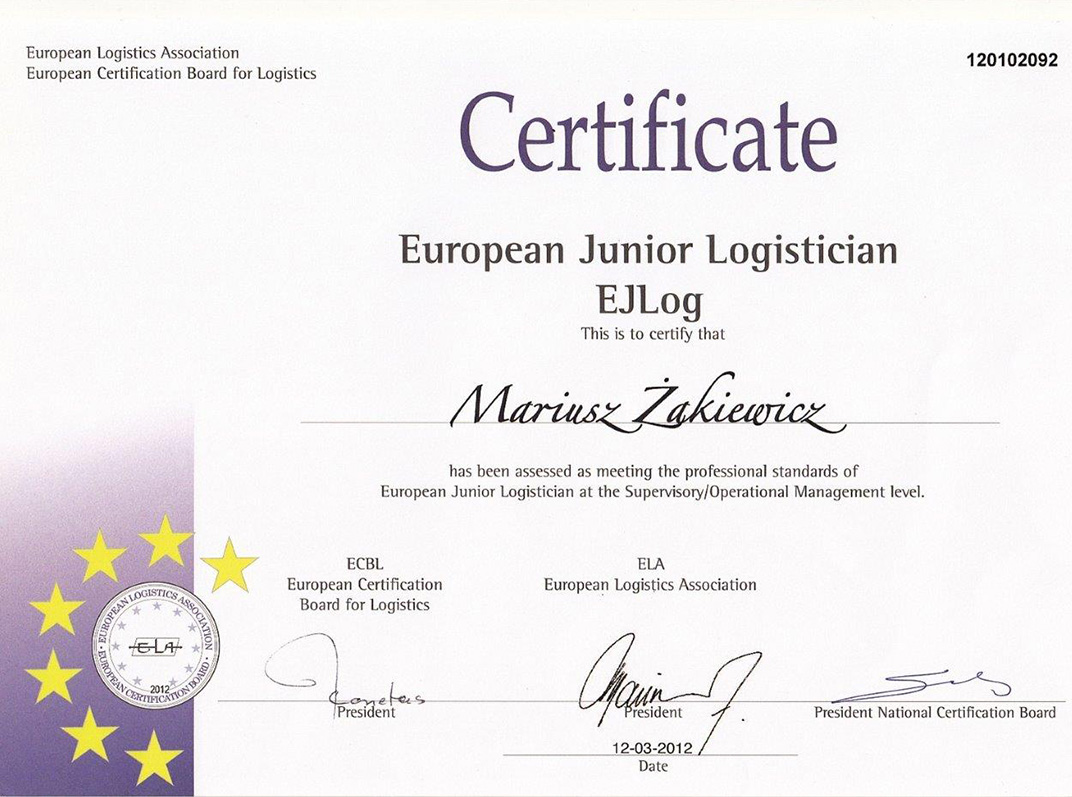 Bba Transport System Certified Forwarding Company Europe